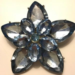 Jewelry - Vintage Brooch Blue Jewelry Pin Art Deco Floral
